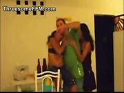 Threesome with two brazilian girls