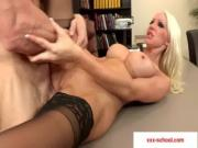 15-Big tits at school