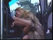 Anastasia kass - blowjob in a fur coat