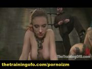Two bdsm slaves training perverts pain and submission