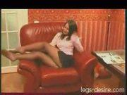 Amateur pantyhose striptease