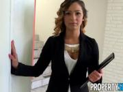 PropertySex - Beautiful agent seduces and fucks home owner for signature