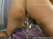 Tight Ass Fucked Hard and She Drunk All Cum in Glass