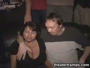 Chubby theater gangbang