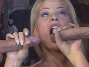 Nikki Anderson dp with 2 big cocks