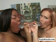 Katja And Kandice - Big Oiled Up Asses