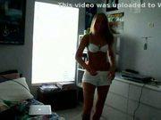 Amateur blonde strip