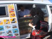 icecream truck teen schoolgirl puffy black hair