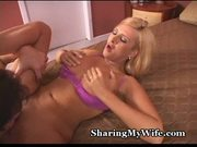 Hot swinger banged by stud