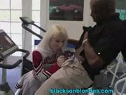 Albino cheerleader britni and 4 black men