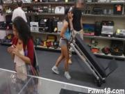 Buff Chick Fucks at Store