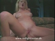 Blond girl fucked in the ass and cum on tits.