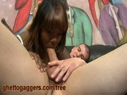 Stacy adams cant control her gag reflex