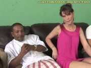 Interracial lesson for son