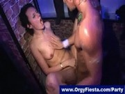 Chicks next door fucked by male strippers at cfnm party