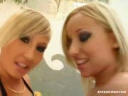 Lesbo babes stripping!