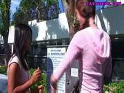 Young girls muff dive carwash