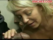 Amazing mature slut plays with two big dicks
