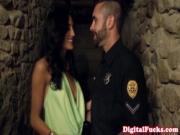 Glam babe Chloe Amour fucks a policeman