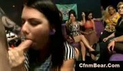 Cfnm stripper cums on face of cfnm babe