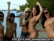Public Nuditity On Beach
