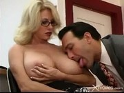 Busty Blonde Gets Fucked And Jizzed