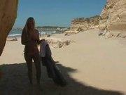Alison angel - beach masturbate