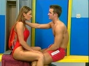 Lifeguards having sex in the locker room!