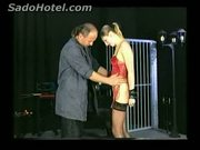 Horny beautiful screaming slave is released out of her jail