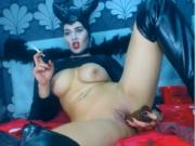 Smoking big titted Maleficent