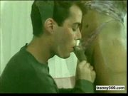 Black shemale and man sucking each other cocks