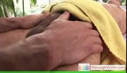 Gay stud getting his dick massaged by massagevictim