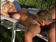 Lifeguard couple having fun in the garden!