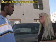 Cougar seduces young black