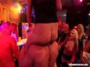 Erotic babes fuck in club