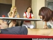 School Girls Blowjob for Classroom Project