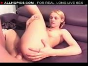Innocent violet gets banged in the ass hard