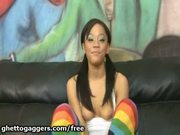 Jayla starr gags on two white dicks