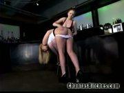 Suspended slave gets punished!