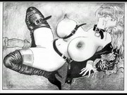 Largest Breasts in the World, BDSM vintage sex artwork