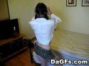 College emo striptease