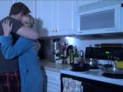Guy comforts his stepmom in the kitchen - Watch More Vidz Like This At Fxvidznet