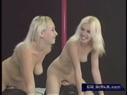 Blond girls and their strap-on lesbian fucking