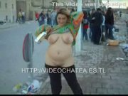 Gordita borracha ensea tetas, choco y culo