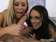 Stephanie cane shares a cock with hot blonde