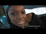 Ebony teen amateur banged out