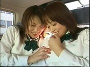 Naugthy Asian Schoolgirls At The Backseat