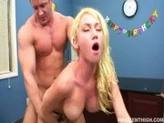 Beautiful blonde Madison Scott gets fucked and creampied in class