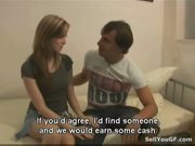 Sex for cash turns shy girl into a slut