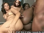 Three Black Girls Love Cock